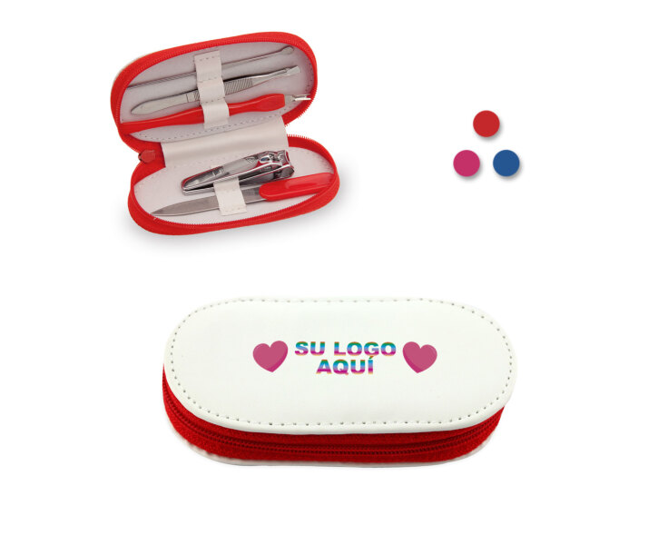 set manicura personalizado con logotipo